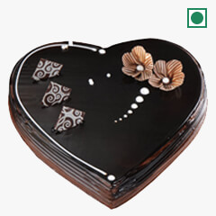 Eggless Chocolate Truffle Heart