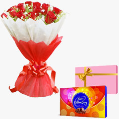 Romantic Red N Cadbury Celebration Combo