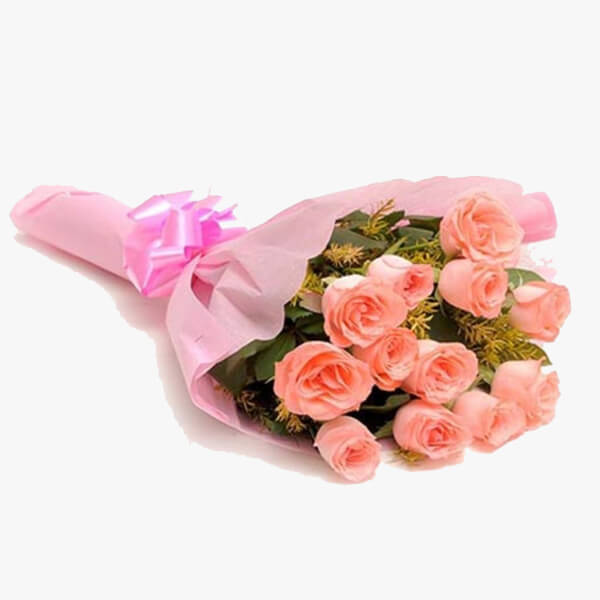 Send baby pink to india bunch of 12 baby pink roses delivery in baby pink back to flowers mightylinksfo