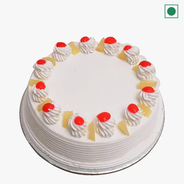 Send Eggless Pineapple Cake To India Eggless Pineapple Cake